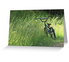 Bicycle Waiting For Summer Rider Greeting Card