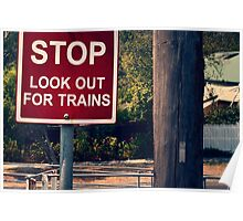 looking out for trains Poster