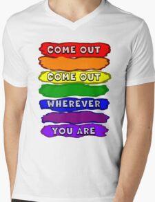 Come Out Wherever You Are Mens V-Neck T-Shirt