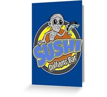 Gollums Sushi Bar Greeting Card