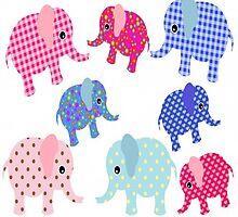 Pretty Baby Elephants by kasseggs