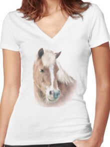 Pony Perfection Women's Fitted V-Neck T-Shirt