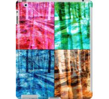 Colorful Forest Trees Four Color Patch Organic Design iPad Case/Skin