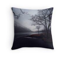 The Lake - Llyn Gwynant Throw Pillow