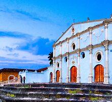 Dusk at Iglesia San Francisco in Granada Nicaragua by Mark Tisdale