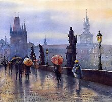 Prague Charles Bridge by Yuriy Shevchuk