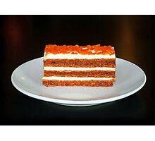 Carrot Cake Profile Photographic Print