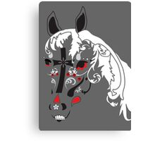 sugar skull horse Canvas Print