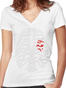 Cagebot Women's Fitted V-Neck T-Shirt