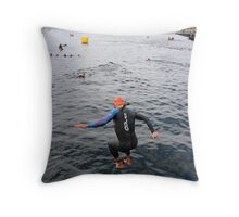 Into the drink! Throw Pillow
