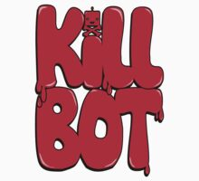 Killbot Bubble Text Red by KillbotClothing