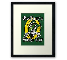 Gollums Sushi Bar - Fresh Precious Fish Framed Print