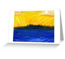 Sunset Glory Greeting Card