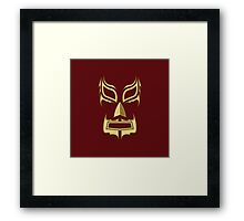 Luchador Mask Bad Guy Framed Print