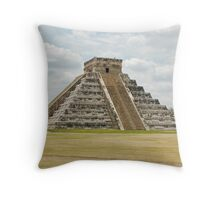 The large Pyramid at Chichen-Itza Throw Pillow