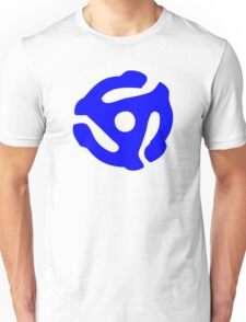 Blue 45 Vinyl Record Symbol Unisex T-Shirt