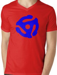 Blue 45 Vinyl Record Symbol Mens V-Neck T-Shirt