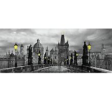 BW Prague Charles Bridge 06 Photographic Print