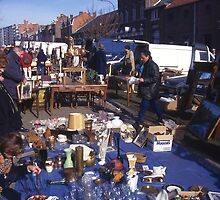 Early morningat the bric-a-brac market, Tongeren, Belgium. by Peter Stephenson