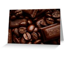 Coffee and chocolate Greeting Card