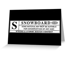 snowboard : warning label Greeting Card
