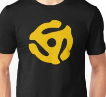 Gold 45 Vinyl Record Symbol Unisex T-Shirt
