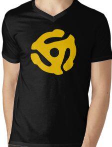 Gold 45 Vinyl Record Symbol Mens V-Neck T-Shirt