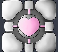Portal Companion Cube - Shaded by MicahTheStrange