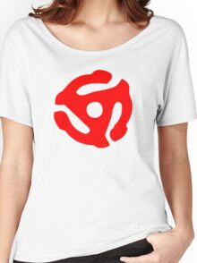 Red 45 Vinyl Record Symbol Women's Relaxed Fit T-Shirt