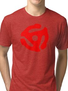 Red 45 Vinyl Record Symbol Tri-blend T-Shirt