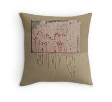 natural dripping abstract Throw Pillow