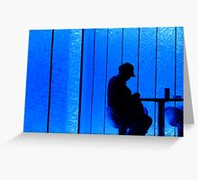 kind of blue Greeting Card