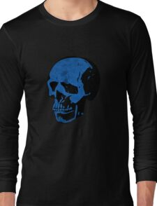 True Blue Punk Skull Long Sleeve T-Shirt