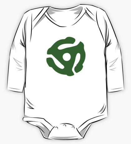 Green 45 Vinyl Record Symbol One Piece - Long Sleeve