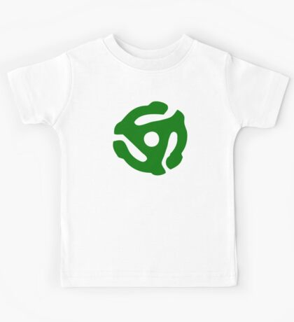 Green 45 Vinyl Record Symbol Kids Tee