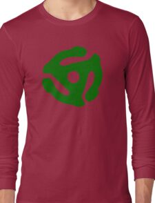 Green 45 Vinyl Record Symbol Long Sleeve T-Shirt