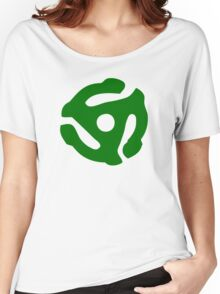 Green 45 Vinyl Record Symbol Women's Relaxed Fit T-Shirt
