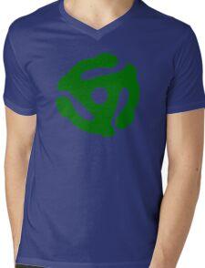 Green 45 Vinyl Record Symbol Mens V-Neck T-Shirt