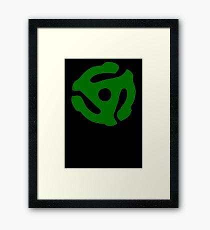 Green 45 Vinyl Record Symbol Framed Print