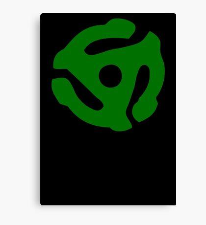 Green 45 Vinyl Record Symbol Canvas Print