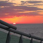 "Sunset Caribbean - on deck, RCI Mariner of the Seas by Edmond J. [""Skip""] O'Neill"