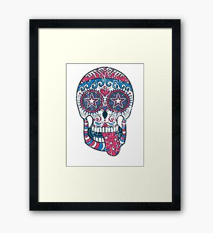 Psychedelic Sugar Skull Framed Print
