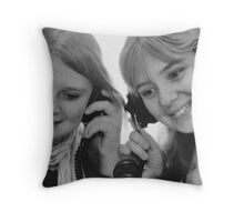 Can you hear me? Throw Pillow