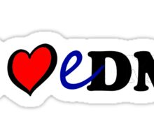 I heart EDM Sticker