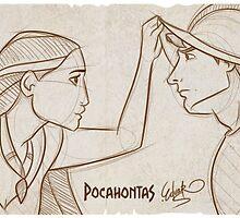 Pocahontas Sketch. by Eduardo Suñer