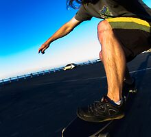 Longboard cruising, Self Portrait by Gerhard Engelbrecht