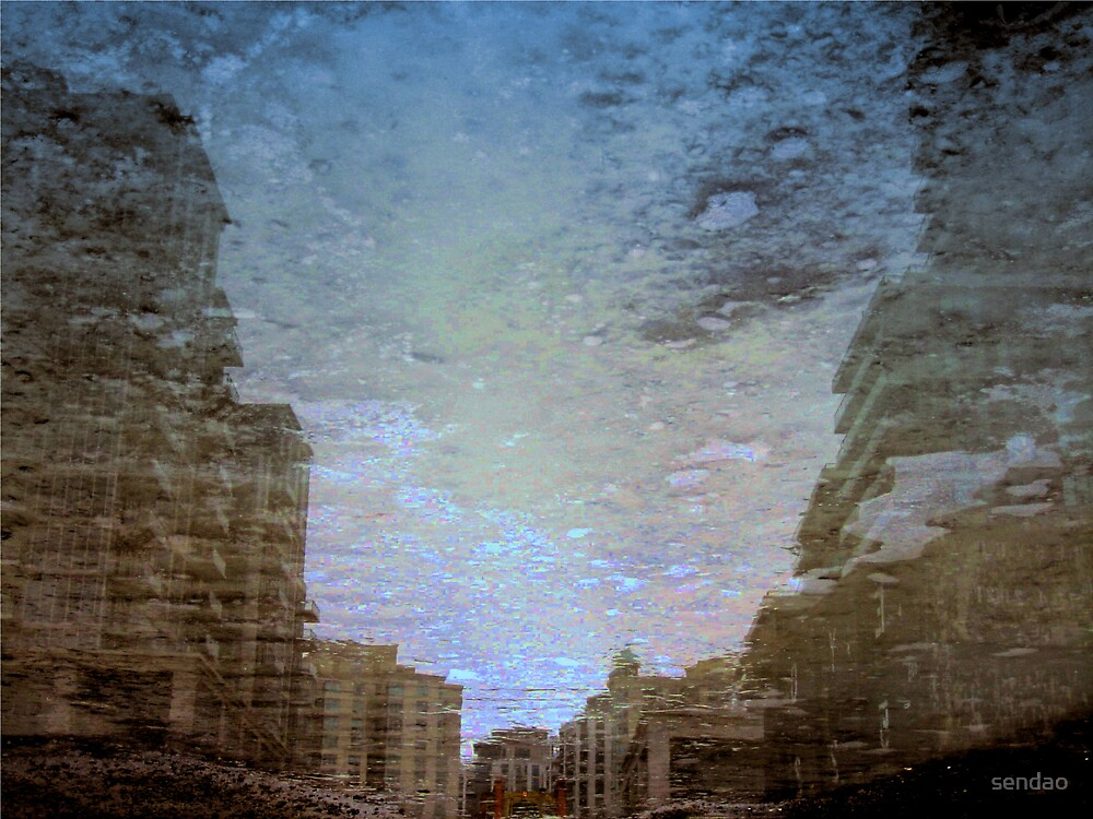 Reflection in (Construction job site)... by sendao