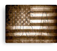USA in Sepia Canvas Print