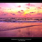 Inspirational Sunset With Zen Proverb by daphsam