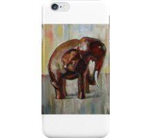 Elephant turns right iPhone Case/Skin